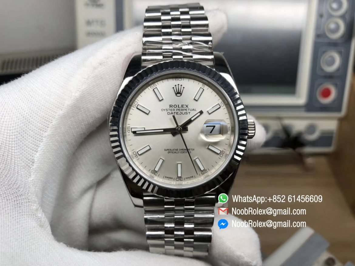 DateJust 41 126334 904L Steel Case Silver Dial on Jubilee Bracelet A2824 AR Factory Best Quality Edition V2 01