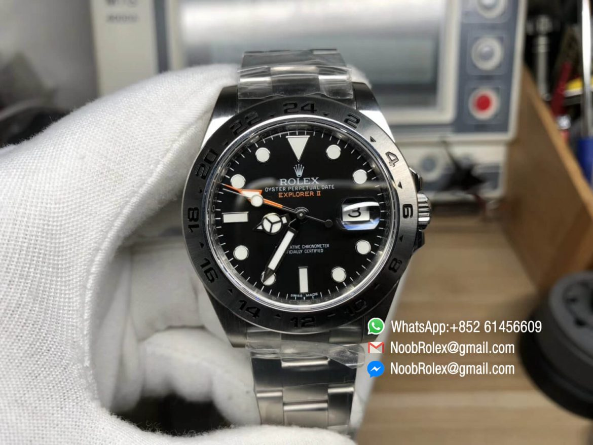 Explorer II 42mm 216570 Noob Best Quality Edition Black Dial SA3187 Movement Correct Hand Stack Same as Genuine 01