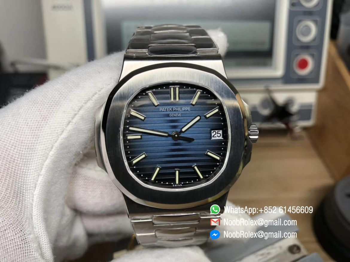 Nautilus Jumbo 5711 Stainless Steel Case Bracelet Blue Dial on A324 Clone 2018 MKS Best Edition V5 01