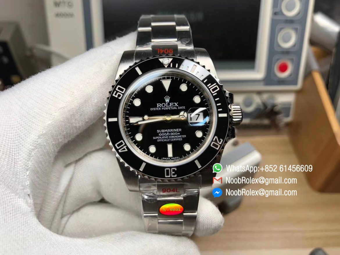 Noob V10 Submariner Date Ref 116610LN Black Dial with Clean Ceramic Bezel 904L Stainless Steel Case and Bracelet SA3135 Movement 01