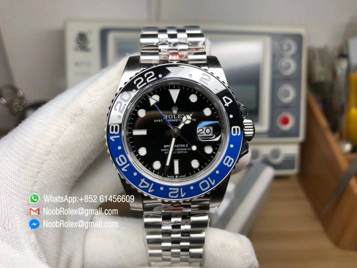 GMT Master II 126710BLNR Real Ceramic 904L Steel Case Bracelet GMF Best Edition A3285 with Correct Hand Stack 01