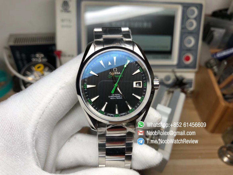 VS Factory Seamaster Aqua Terra 41mm 150m Black Dial Green Seconds Needle Steel Case Asia Clone 8500 Calibre 01