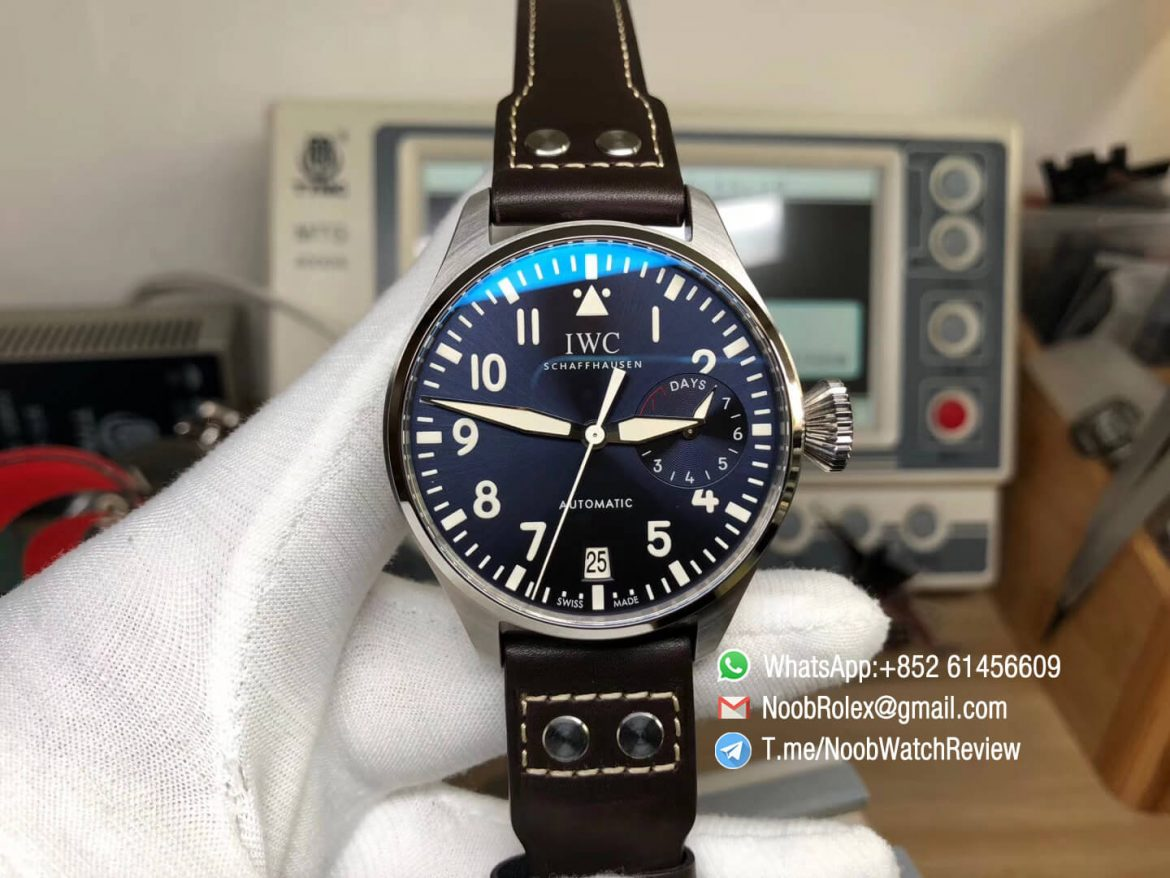 ZF Top Quality IWC Big Pilot Power Reserve IW500916 2016 Le Petit Prince Edition Blue Dial on Brown Leather Strap A51111 01