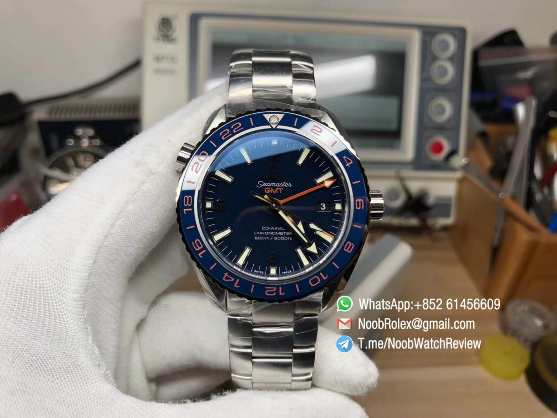VSF Planet Ocean 600M GMT Blue Dial Blue Ceramic Bezel on Steel Bracelet A8605 Super Clone Movement 01