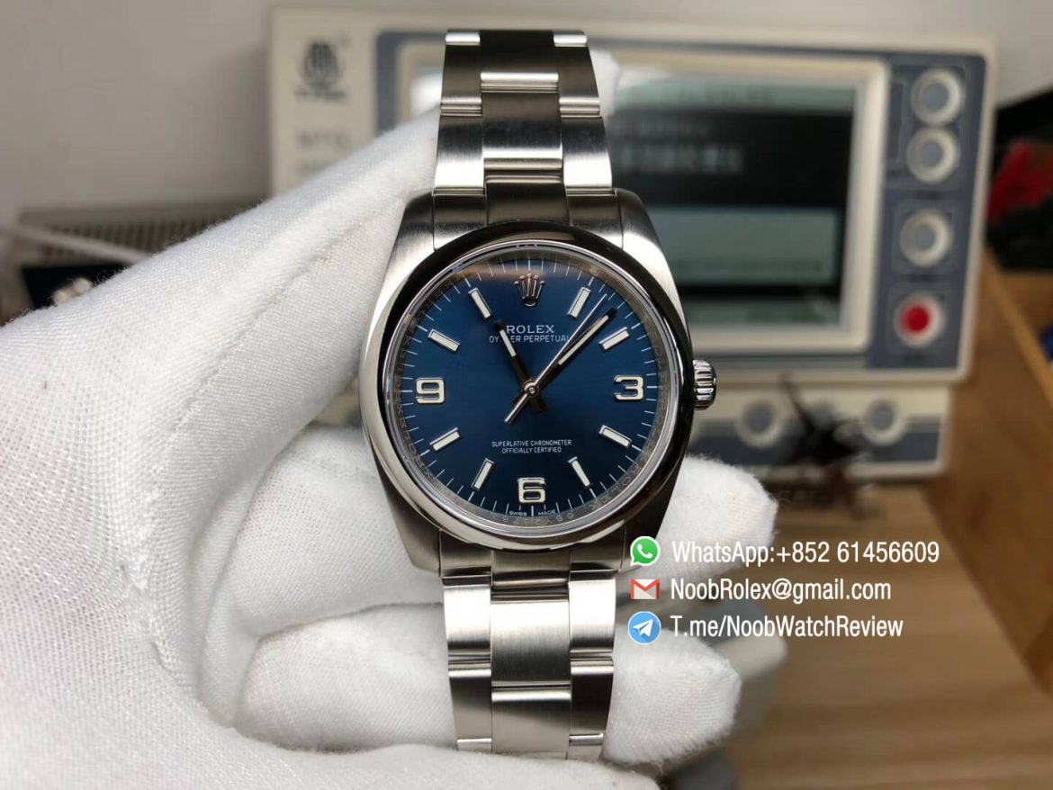 Oyster Perpetual 36mm 116000 Steel Case and Bracelet Blue Dial APT5000 KRF Superclone Unisex Watch 01